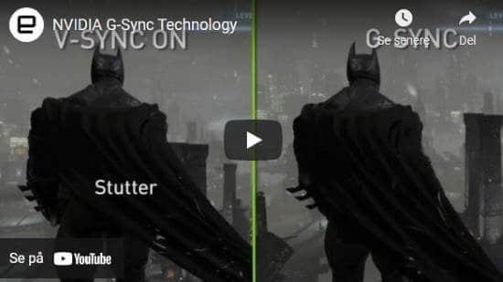 Nvidia g-sync technology